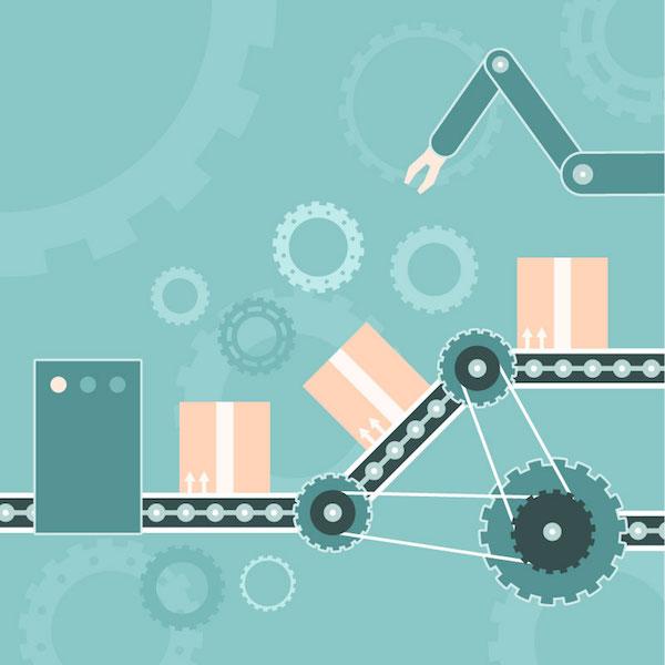 Robotisation production usine
