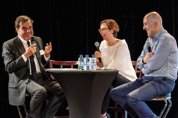 Pierre Roset Cathy Dufour et Arnaud Vis génération Y Journée UNIFA
