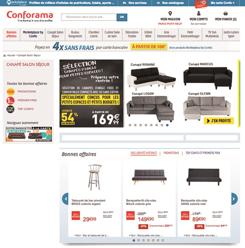 conforama lance sa marketplace le courrier du meuble et de l habitat. Black Bedroom Furniture Sets. Home Design Ideas