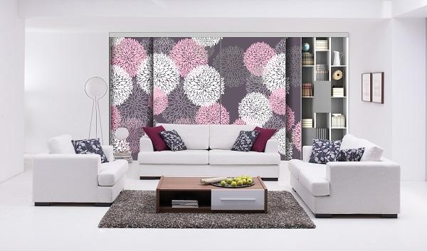 Porte de placard tixelia 4 v floral coulidoor