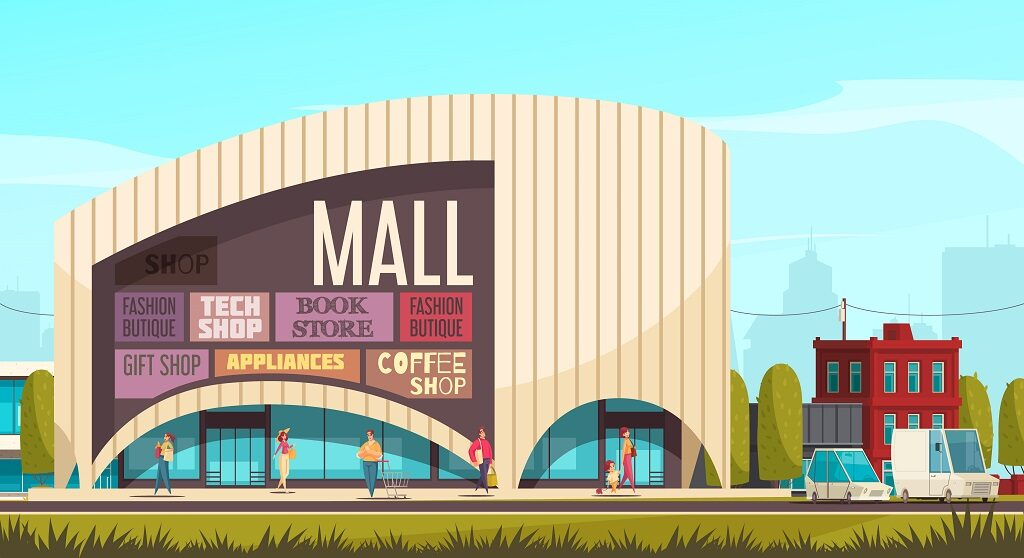 Shopping Mall Outside Composition